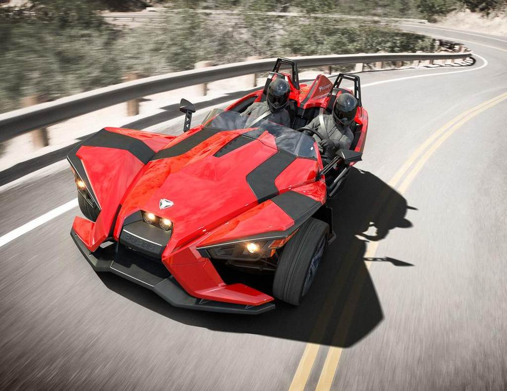 ATV, Dreirad, featured, Polaris, Polaris Slingshot, Slingshot, Teaser, Trike, Video, Premie, fotos, debut, debüt, revealed, offiziell, Galerie, Bilder, Preis
