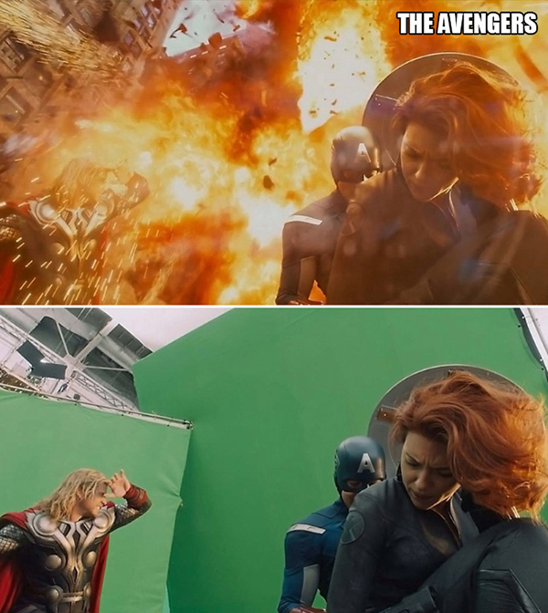 These Movie Scenes Look A Hell Of A Lot Different Without Special Effects