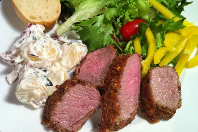 Parmesan-crusted lamb recipe