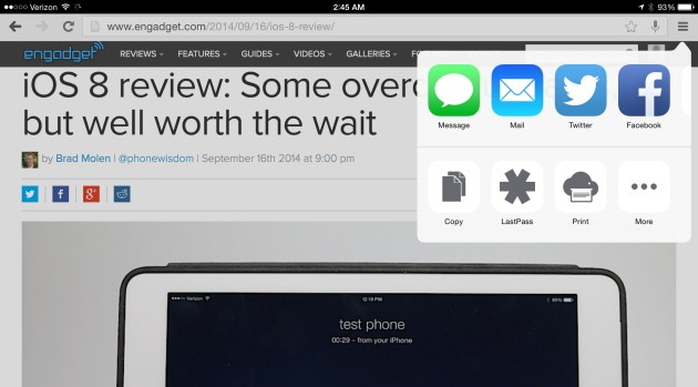 Google Chrome plugs into iOS 8 app extensions
