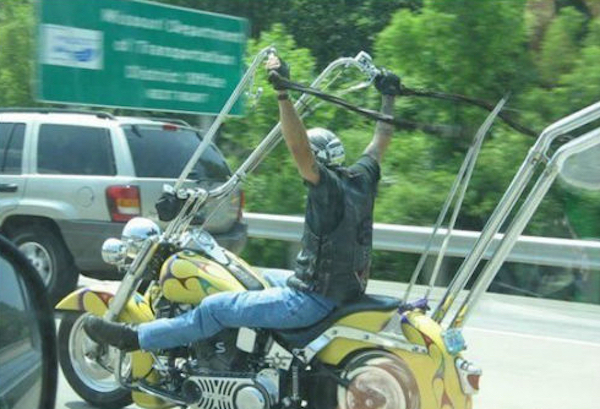 manliest photos on the internet, funny manly images, motorcycle handlebars too high
