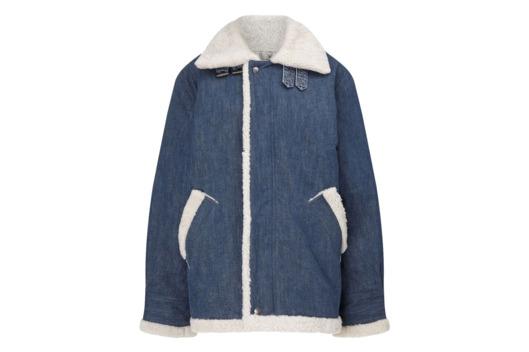 Rachel Comey blue-denim shearling jacket
