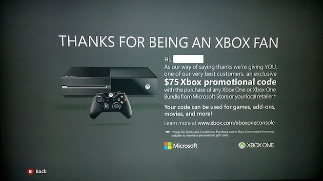 Microsoft offering $75 credit if gamers upgrade to an Xbox One