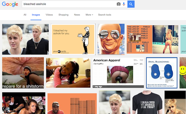 "The First Google Search Result For ""Bleached Asshole"" Is Not What You Think (Totally SFW)"
