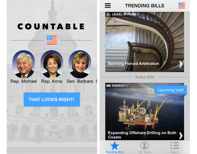 Countable makes following Congress easy as long as you use Facebook