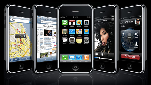 The original Apple iPhone from 2007