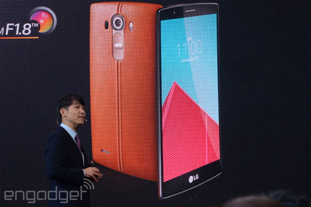 LG unveils the G4 with a super-bright camera and leather backs