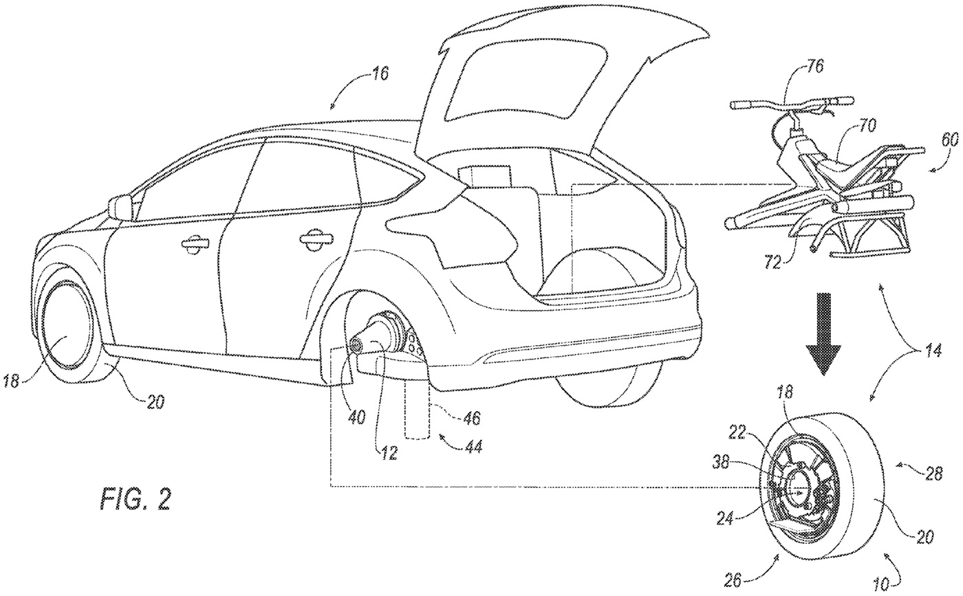 Este concepto de Ford convierte la rueda del coche en un monociclo