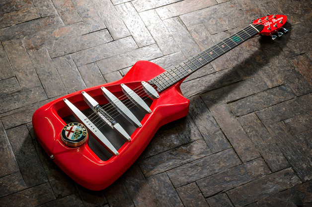 Alfa Romeo turns it up to 11 with Harrison guitars and Marshall amps
