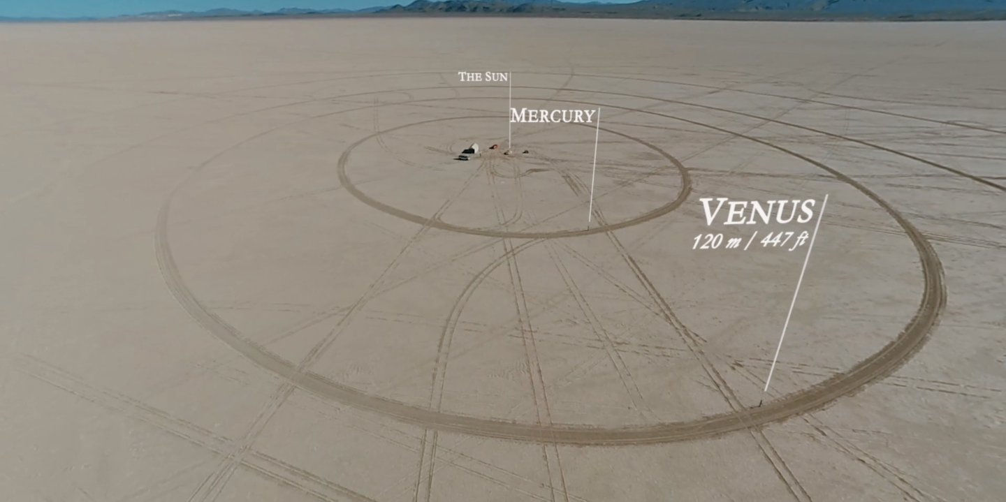 To scale Solar System model built across seven miles of Nevada desert