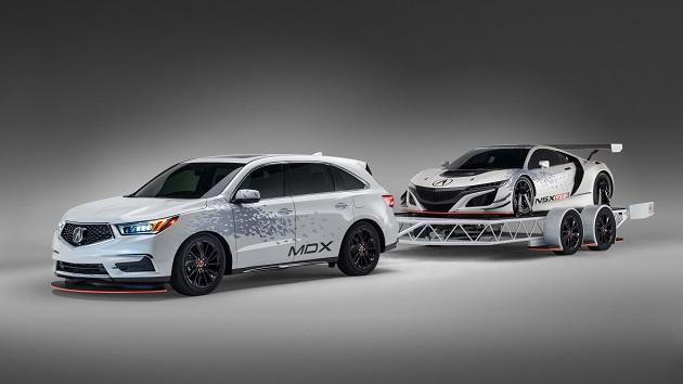 アキュラ、「NSX GT3」を牽引する「MDX」のカスタムカーをSEMAに出展