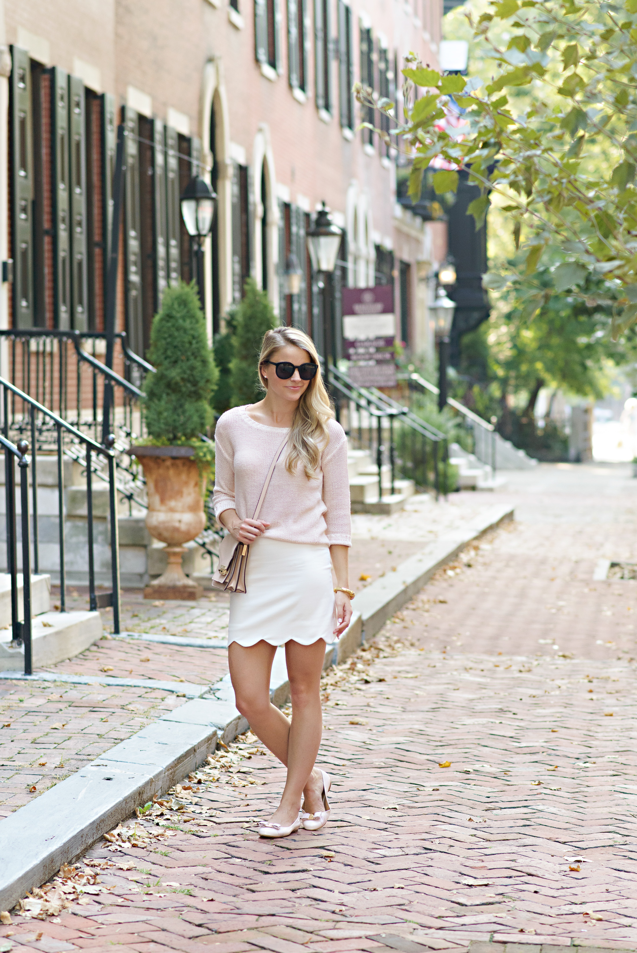 Street style tip of the day: Blush flats