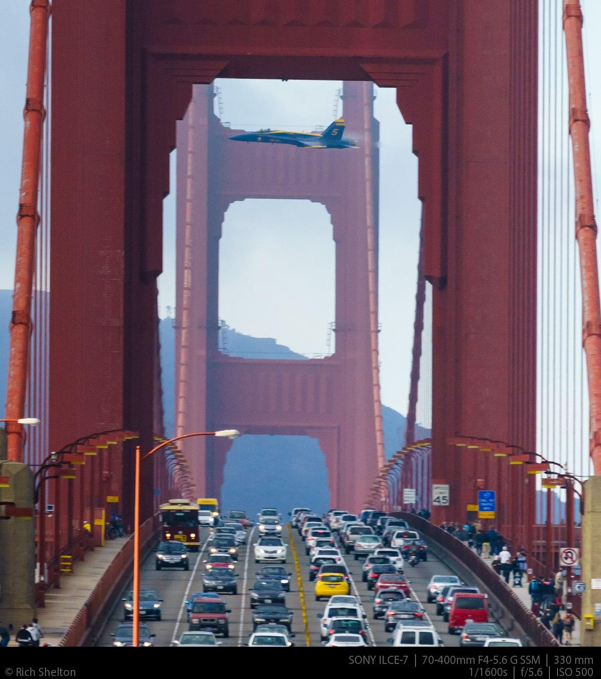 Blue Angels Golden Gate Bridge