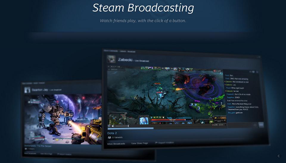 Steam Broadcasting quiere convertirse en el rival de Twitch