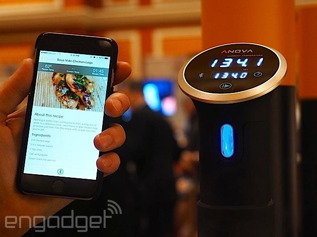 Anova announces a WiFi sous vide cooker that'll let you set temps remotely