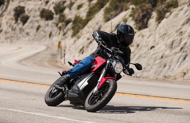 2015 Zero SR electric motorcycle in action