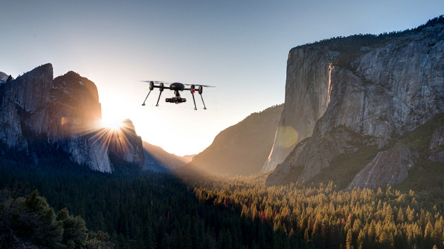 A (Photoshopped) drone in Yosemite National Park