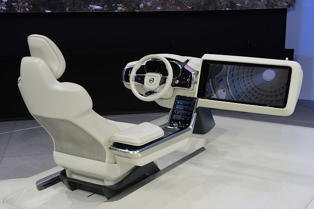 【LAオートショー2015】ボルボ、自動運転車向けの最新インテリアコンセプトを公開