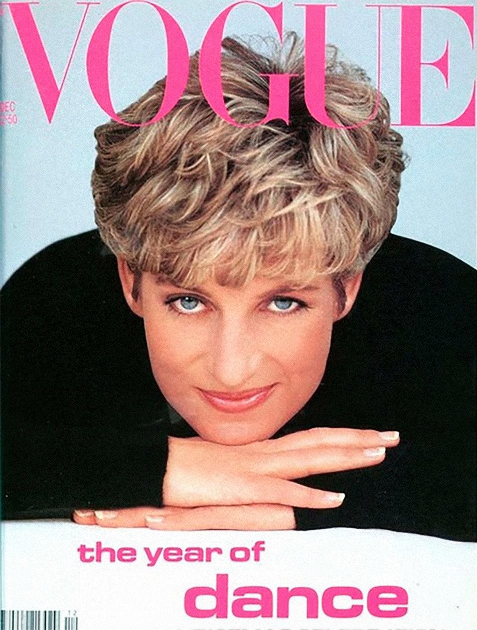 Princess Diana's famous haircut on the cover of Vogue