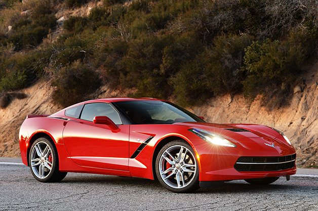 2014 Chevrolet Corvette Stingray, front three-quarter view