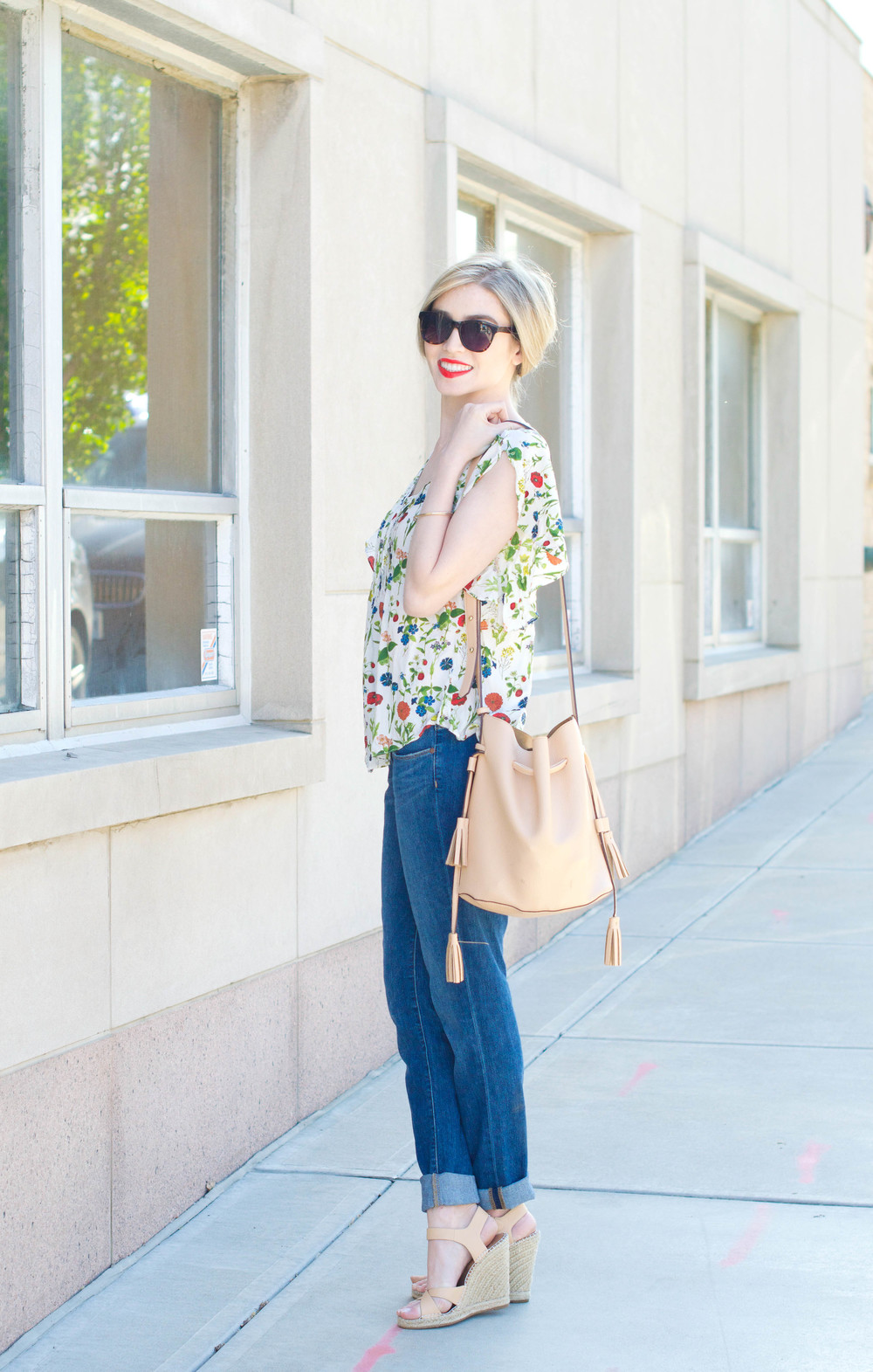 Street style tip of the day: The floral blouse