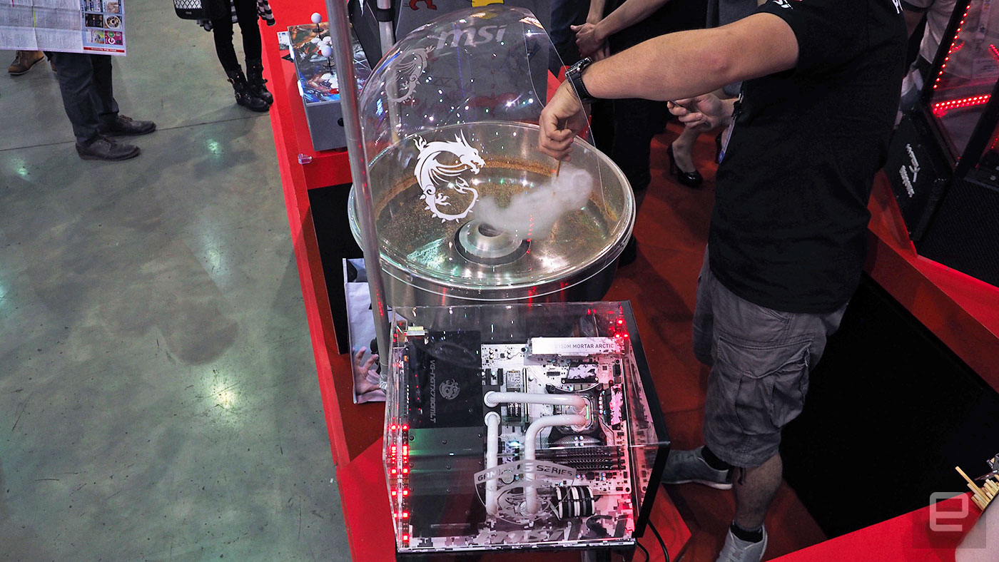 Computex's most excessive PC mod is a cotton candy machine