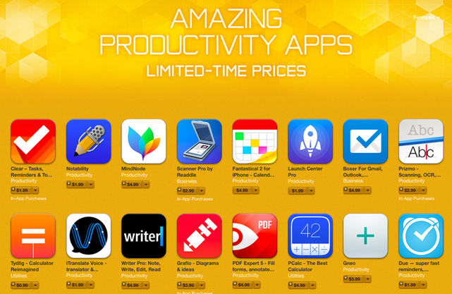 Amazing Productivity Apps Sale