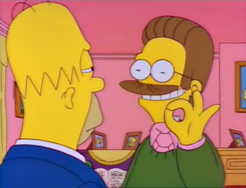 funny simpsons screenshots, hilarious simpsons freeze frames, ned flanders