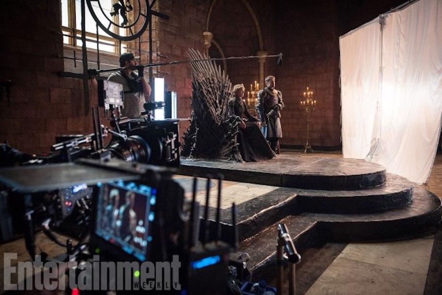 Game of Thrones Behind the Scenes Season 7, Episode TK L-R: Lena Headey as Cersei Lannister and Nikolaj Coster-Waldau as Jaime Lannister