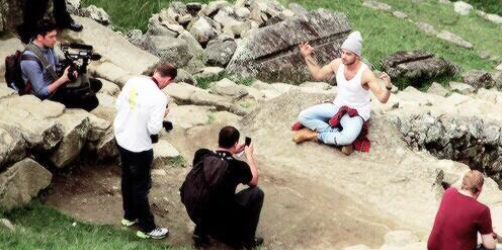 Liam Payne poses Machu Picchu