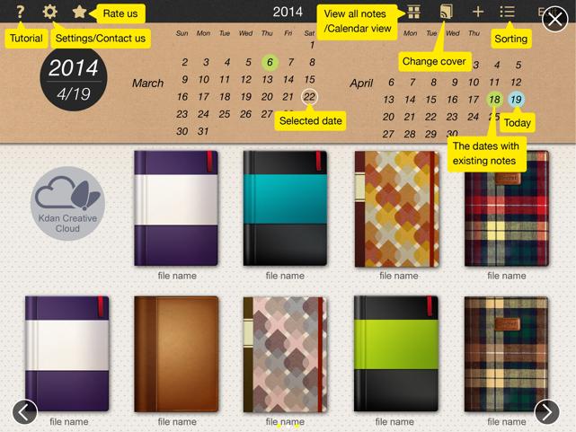 NoteLedge calendar view
