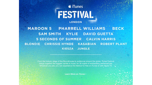 Apple expands its artists lineup for 2014 iTunes Festival in London