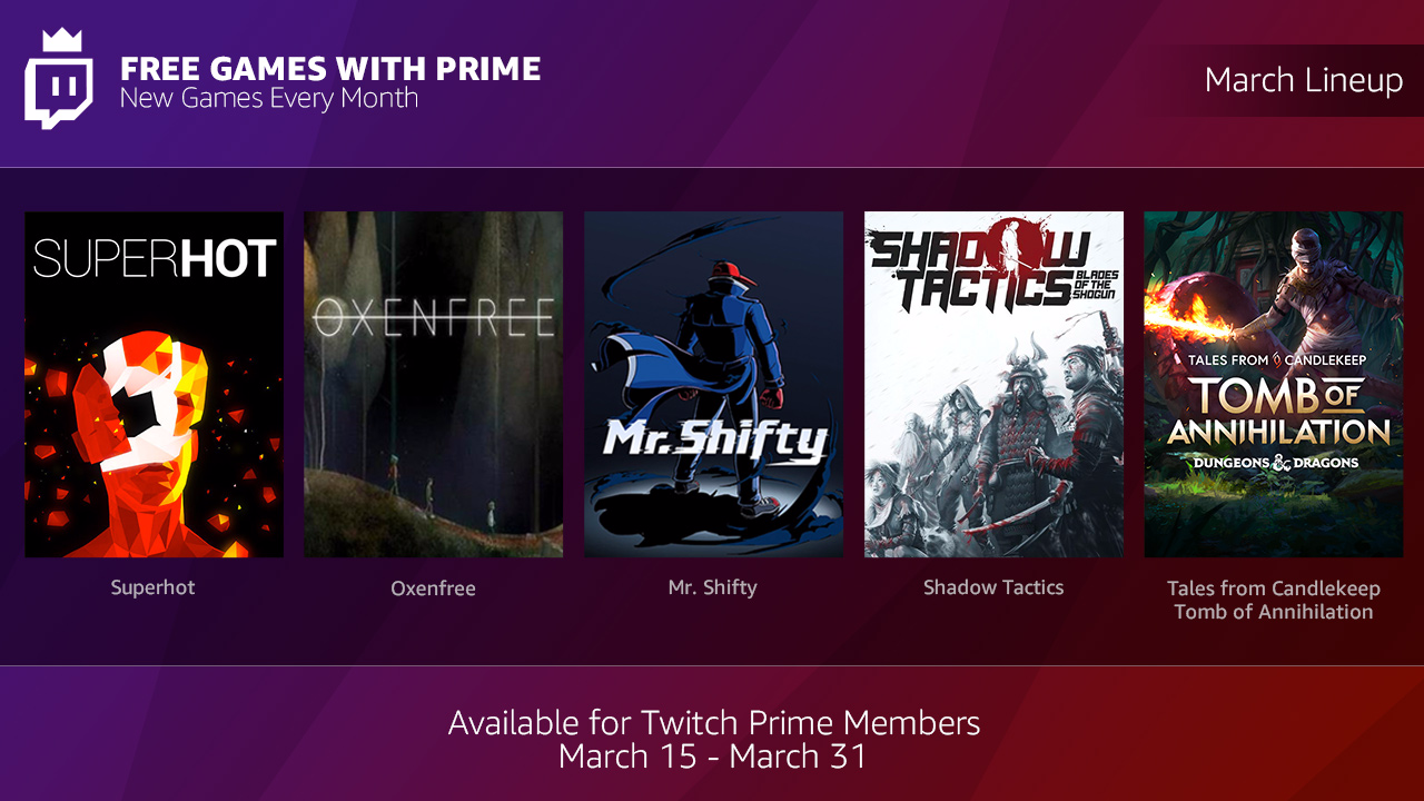 photo image Amazon will give away free games every month with Twitch Prime