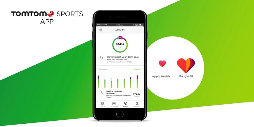 TomTom Sports: App jetzt mit Apple Health und Google Fit synchronisierbar