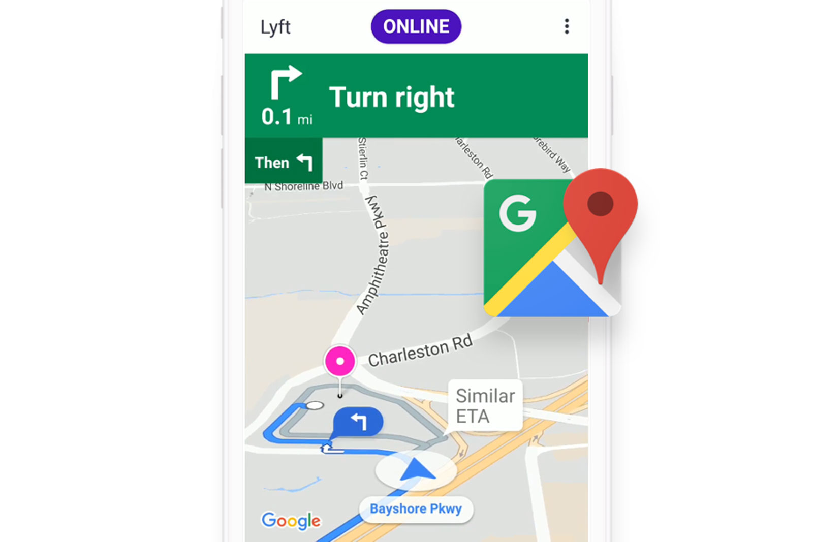 photo image Lyft drivers won't have to switch apps to use Google Maps