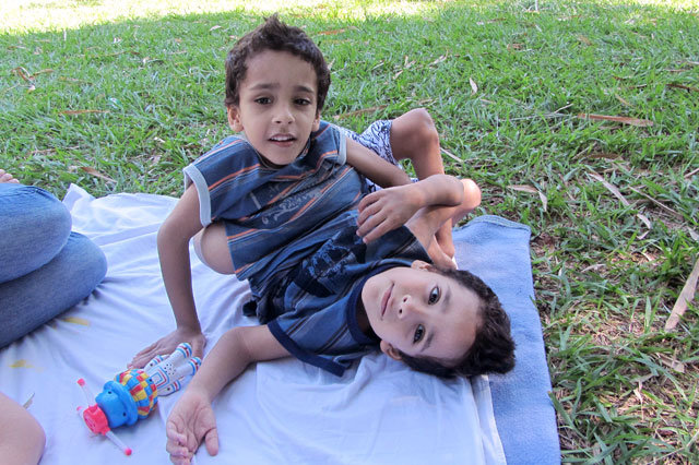 Brazilian conjoined twins Heitor and Artur