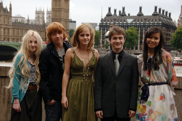 LONDON - JUNE 25:  (EMBARGOED FOR PUBLICATION IN UK TABLOID NEWSPAPERS UNTIL 48 HOURS AFTER CREATE DATE AND TIME) Evanna Lynch, Emma Watson, Daniel Radcliffe and Katie Leung attend the Harry Potter And The Order Of The Poenix photocall on June 25, 2007 in London, England. (Photo by Dave M. Benett/Getty Images)