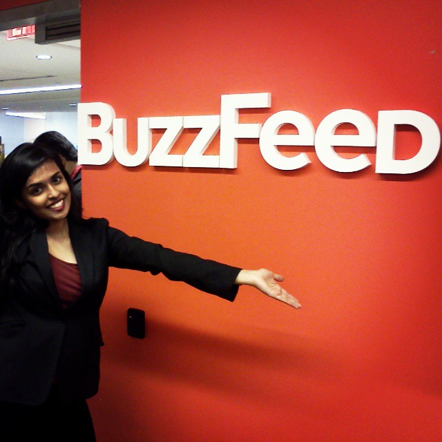 Me at my first BuzzFeed hackathon.