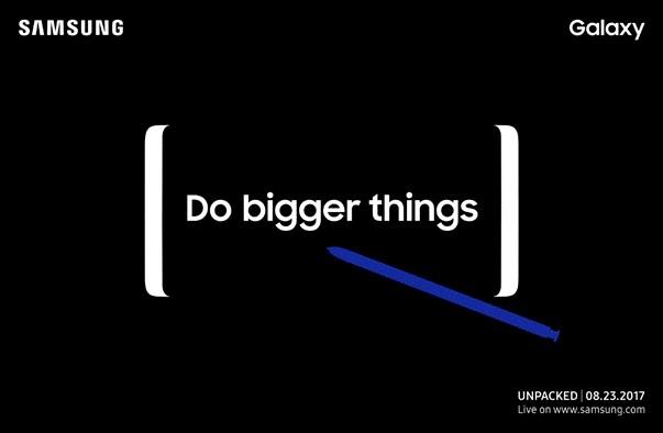Samsung calienta la presentación del Galaxy Note 8 con un teaser