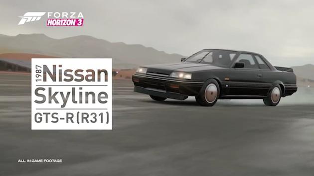 【ビデオ】『Forza Horizon 3』に日産R31型「スカイライン GTS-R」を含むカー パックが登場!
