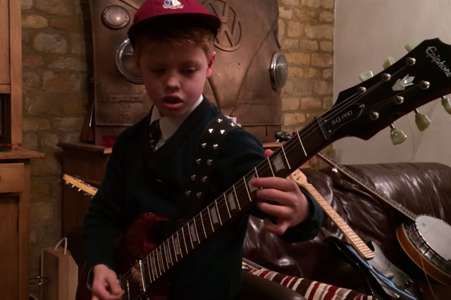 Amazing 10-year-old rock guitarist racks up 1.4 million views on You Tube (video)