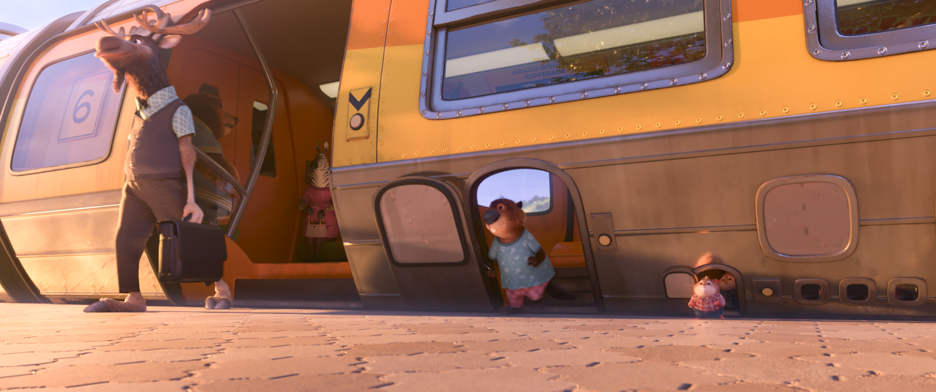"A WORLD FOR BIG AND SMALL — Walt Disney Animation Studios' ""Zootopia"" features a vast world where humans never existed. With advanced transportation systems that accommodate mammals of all shapes and sizes, the modern mammal metropolis was built by animals for animals. Directed by Byron Howard and Rich Moore, and produced by Clark Spencer, ""Zootopia"" opens in U.S. theaters on March 4, 2016. ©2016 Disney. All Rights Reserved."