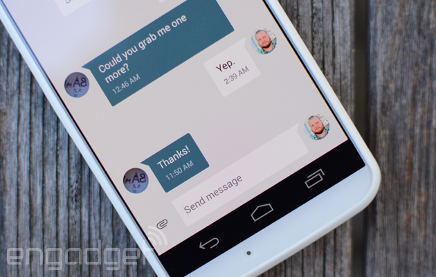 Android's official texting app offers replies from notifications