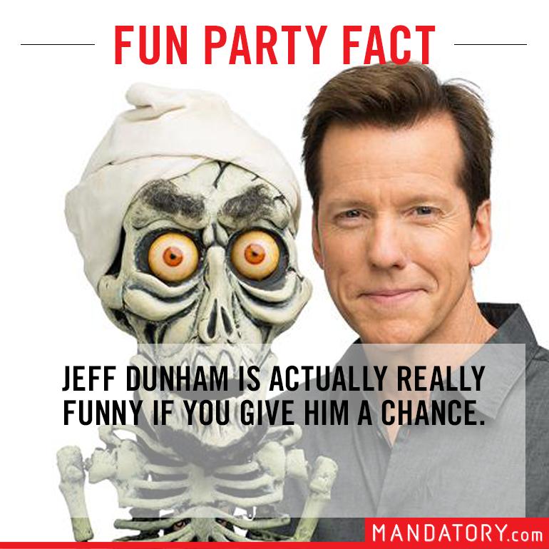 impressive sounding fake facts, fake fun facts, jeff dunham actually funny