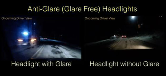 Car headlights of the future won't blind other drivers