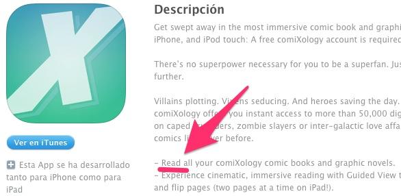 ComiXology ya no permitirá comprar cómics desde iOS, sino solo leer