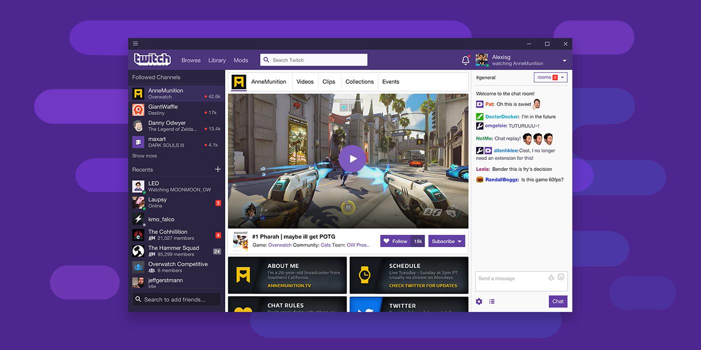 Mehr Features: Twitch bekommt Desktop-App