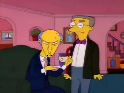 funny simpsons screenshots, hilarious simpsons freeze frames, mr burns waylon smithers