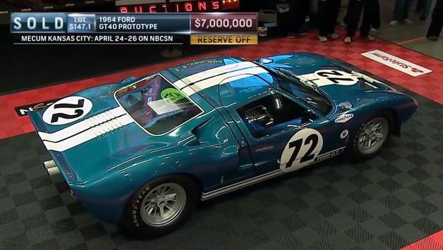 【ビデオ】いわくつきの1964年式フォード「GT40」が7億円で落札!