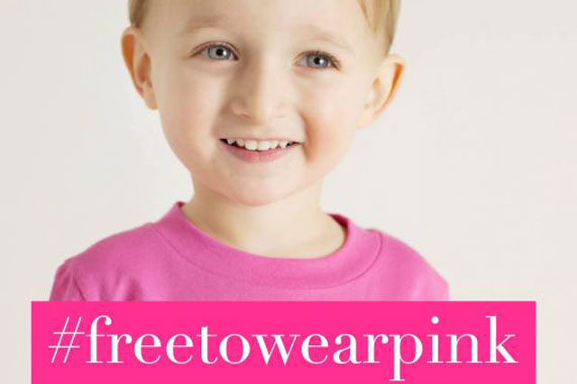 freetowearpink campaign reminds boys and their parents they can wear anything they want